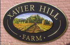 Xavier Hill Farm Winery Sign