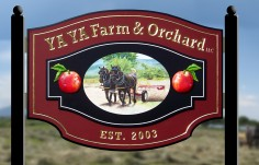 Ya Ya Farm & Orchard Sign