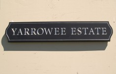 Yarrowee Estate House Name Sign