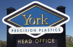 York Precision Plastics Company Sign