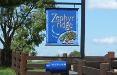 Zephyr Ridge Hanging Sign on Location