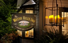 The Welsh HIlls Inn sign