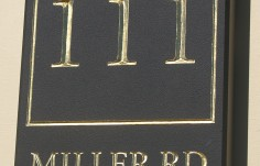Miller Road House Number sign