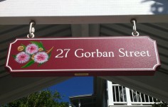 27 Gorban Street House Sign On Site