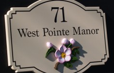17 West Pointe Manor House Sign