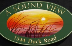 A Sound View House Sign