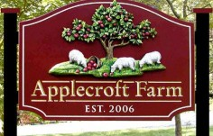 Applecroft Farm Sign