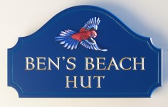 Ben's Beach House Sign