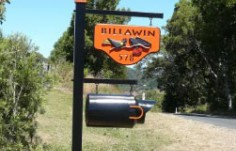 Billawin Bird Sign on Location