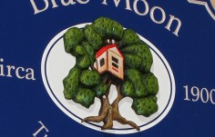 Blue Moon House Name Sign Detail
