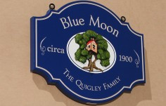Blue Moon House Name Sign