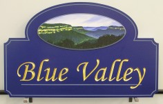 Blue Valley House Name Sign