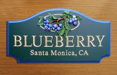 Blueberry Property Sign