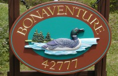 Bonaventure Cabin Sign