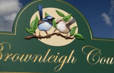 Brownleigh Court Apartment Sign Detail