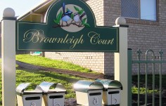 Brownleigh Court Apartment Sign 2