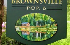 Brownsville Town Welcome Sign