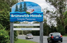 Brunswick Heads Town Welcome Sign