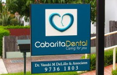 Cabarita Dental Office Sign Up Close