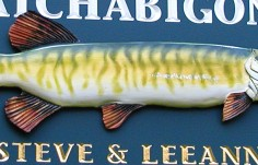 Camp Catchabigone Fish Sign Detail