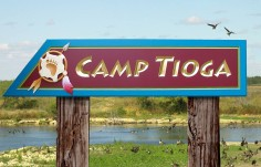 Camp Tioga Park Sign