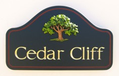 Cedar Cliff Property Sign