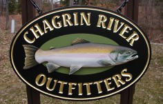 Chagrin River Fishing Sign