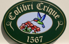 Colibri Crique Property Sign