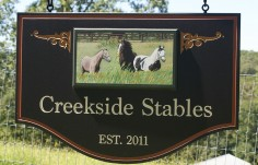 Creekside Stables Horse Sign On Location