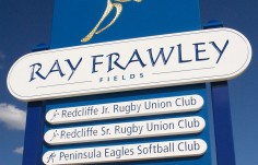 Ray Frawley Park Sign