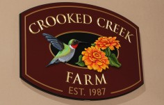 Crooked Creek Farm Sign