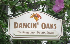 Dancin' Oaks House Sign On Site