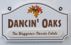 Dancin' Oaks House Sign