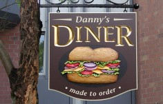 Danny's Diner Restaurant Sign