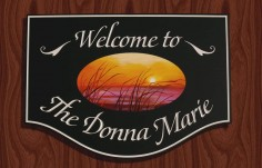 The Donna Marie Welcome Sign