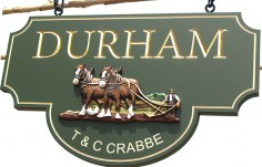 Durham Hanging Sign