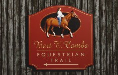 Equestrian Trail Horse Sign
