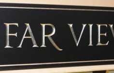 Far View House Sign
