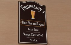 Fennessey's  Home Bar Sign