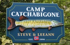 Camp Catchabigone Fishing Sign