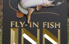 Fly In Fish Inn Fishing Sign