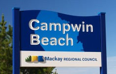 Campwin Beach Town Welcome Sign