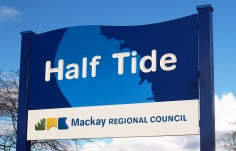 Half Tide Town Welcome Sign