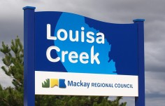 Louise Creek Town Welcome Sign