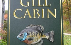 Gill Cabin Fish Sign