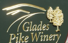 Glades Pike Winery Sign Detail