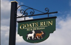 Goat's Run Property Sign