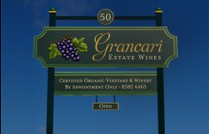 winery entry sign