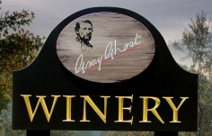 Gray Ghost Winery Sign