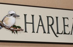 Harlea House Sign